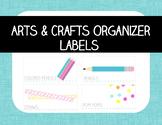 Craft Organizer/Toolbox Labels & Arts and Crafts Supply List Bonus!