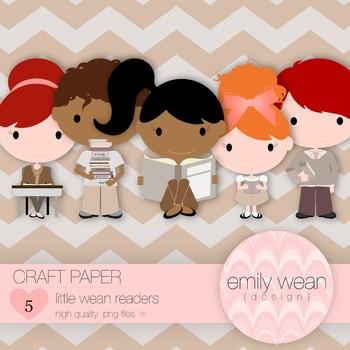 Craft Paper - Little Readers Clip Art