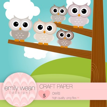 Craft Paper - Owl Clip Art