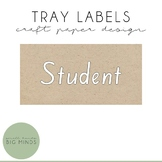 Craft Paper Tray Label