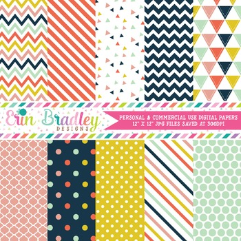 Craft Party Digital Paper Pack