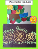 Craft Patterns - Sand Art - 8 Patterns for making Colored Sand Art Designs