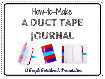 Craft Project for Kids: Duct Tape Journal