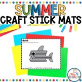 Craft Stick Mats for Summer (Fine Motor Morning Exploration Tubs)