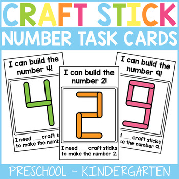 Craft Stick Number Task Cards