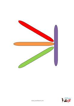 Craft Stick Shape Pattern Sheet