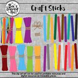 Craft Sticks Clip Art Set for printable and digital resources
