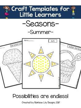 Craft Templates for Little Learners_ Seasons_Summer