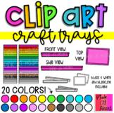 Craft Trays Clip Art / Activity Trays / Play Dough Trays /