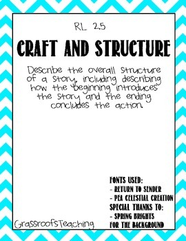 Craft and Structure Graphic Organizer