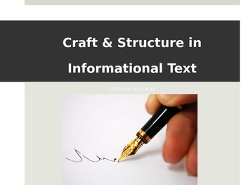CCSS Craft and Structure in Informational Text - Third Grade - Introduction
