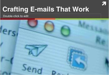 Crafting E-mails