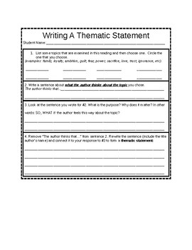 Crafting Theme Statements