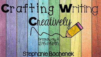 Crafting Writing Creatively Presentation