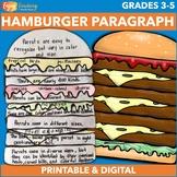 Hamburger Graphic Organizers and Paragraph Writing Activities