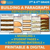 Hamburger Paragraph Writing Template and Craft