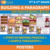 Hamburger Writing Paragraphs Posters - Third Grade, Fourth Grade, Fifth Grade