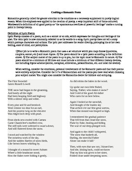 Crafting a Romantic Poem