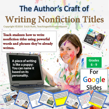 The Author's Craft of Writing Non-Fiction Titles for Google Slides