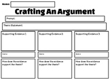 Crafting an Argument Graphic Organizer PRINTER FRIENDLY