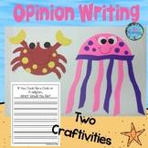 OCEAN ANIMALS Crab and Jellyfish Craft  (A Fun Spring Writ