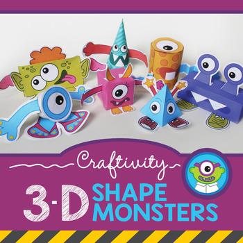 Craftivity: 3-D Shape Monsters