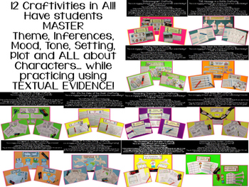 Craftivity BUNDLE for Inferences, Theme, Characters, Plot and MORE!