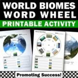 Biomes Activity, Word Wheel, Biomes of the World Craftivity