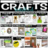 Craftivity Bundle for the WHOLE YEAR     {12 seasonal crafts}