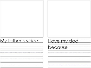Craftivity: Create your own I love my Dad Father's Day Book