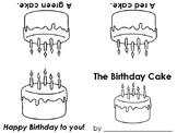 Craftivity Early Reader Birthday Cake Book
