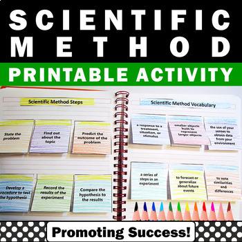 Scientific Method Foldable Printable, Scientific Method Interactive Notebook