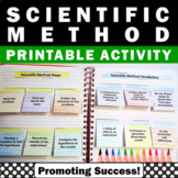 Scientific Method Interactive Notebook Printable Science Distance Learning