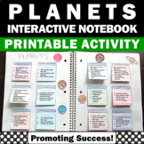 Solar System and Planets Interactive Notebook, 4th 5th 6th Grade Science Craft