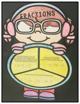 Craftivity Fractions Winter Kids