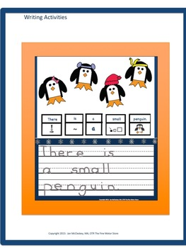 Craftivity:  Penguin Craftivity and Writing Labs for K/1/Special Education