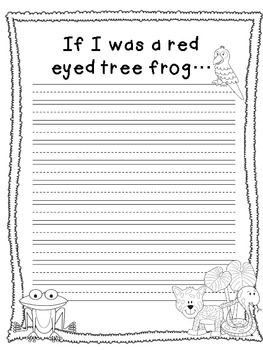 Craftivity: Rainforest Red Eyed Tree Frog