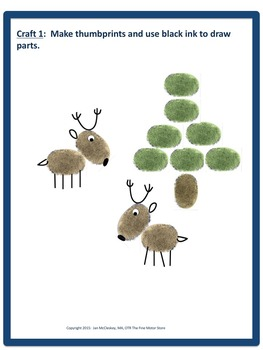 Craftivity:  Reindeer Craftivity and Writing Labs for K/1/Special Education