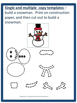 Craftivity:  Snowman Craftivity and Writing Lab for Special Education