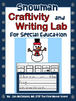 Craftivity:  Snowman Craftivity and Writing Lab for Specia