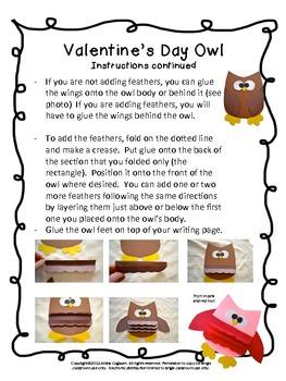 Craftivity: Valentine's Day Owl