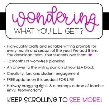 CRAFTIVITY AND WRITING BUNDLE FOR THE ENTIRE YEAR!