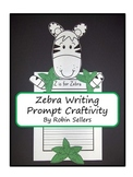 Craftivity: Zebra Writing Prompt