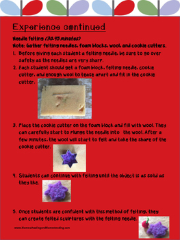 Distance Learning|Home Learning| Crafts & Activities: Felting