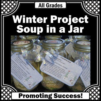 soup in a jar winter crafts craftivity fundraiser