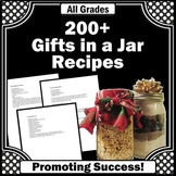 Gifts in a Jar, Christmas Gifts to Make for Parents, Student Counsel Ideas