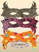 Masks - Crafts - Clipart - 25 different color designs and black & white