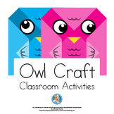 Crafts and Classroom Decorations - Owl Theme