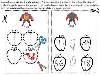#backtoschool Crafts for Learning Bushels of Apples Sequencing & More