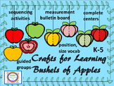#backtoschool Crafts for Learning Bushels of Apples Sequen
